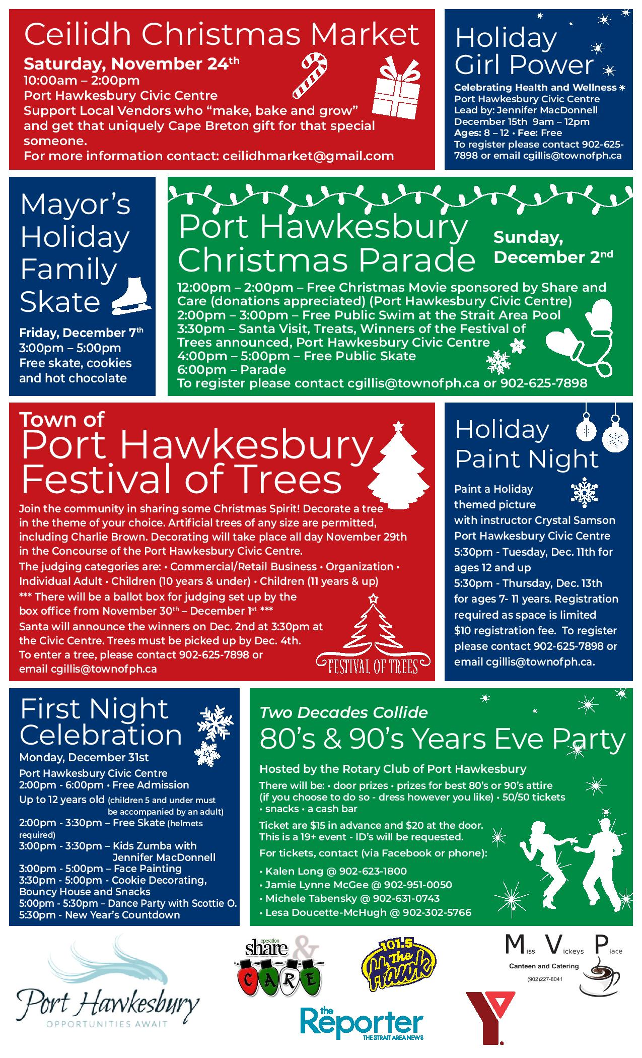Town of Port Hawkesbury - Town of Port Hawkesbury Holiday Flyer
